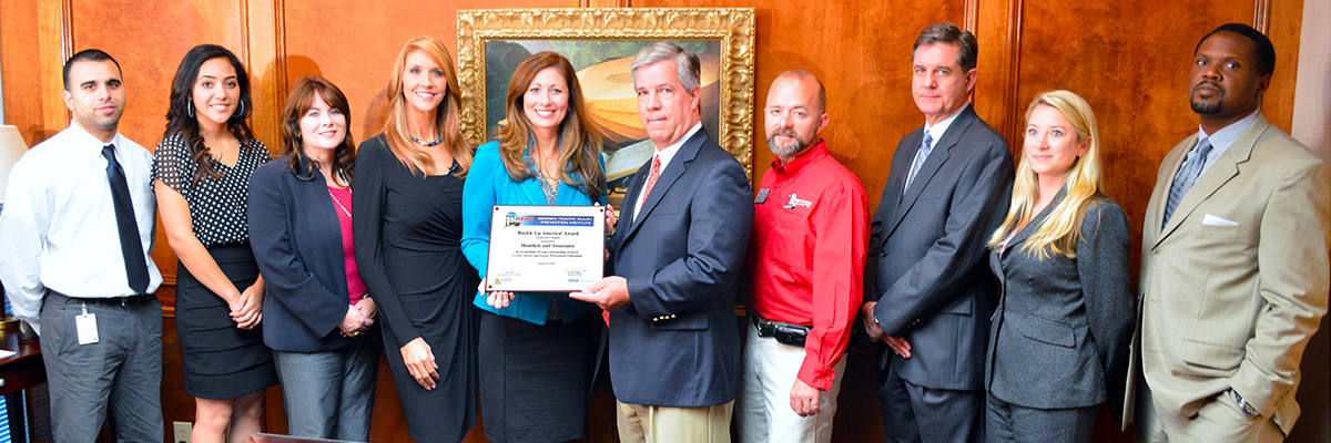 Montlick & Associates Buckle Up Award from the Georgia Traffic Injury Prevention Institute