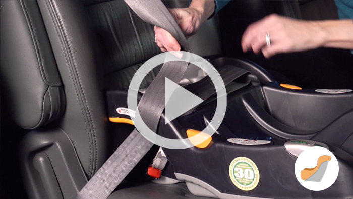 Rear facing belt video