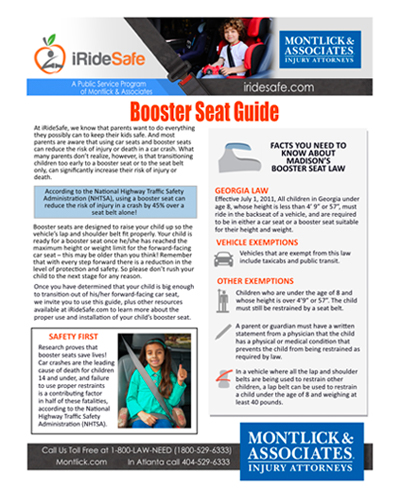 Iride Safe Georgia Booster Seat Laws Age And Height Requirements In